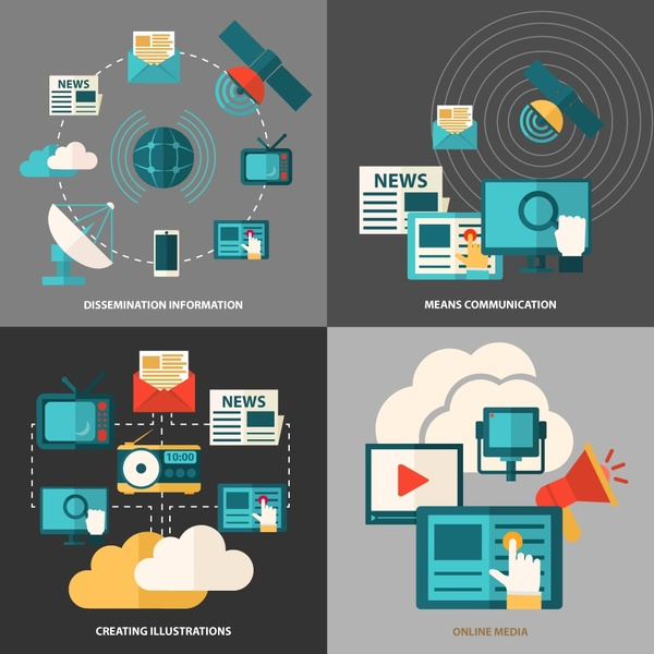 website application concepts isolation with various elements