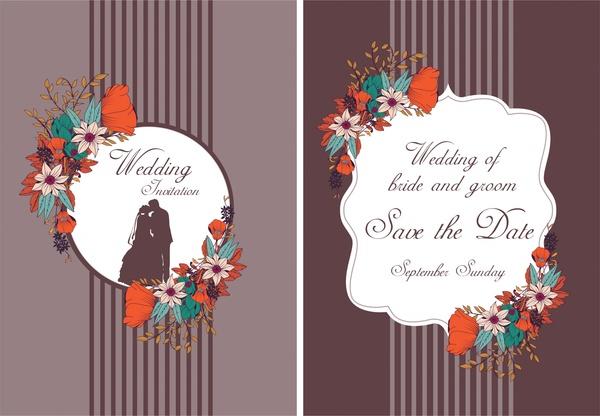 wedding backdrops design floral frames striped violet decoration