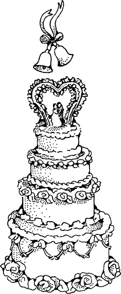 Wedding Cake Clip Art Free Vector In Open Office Drawing Svg Svg