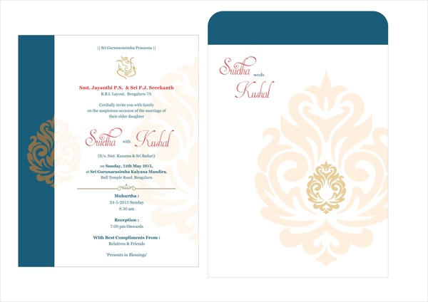 Wedding Card Design Free Vector In Coreldraw Cdr Cdr