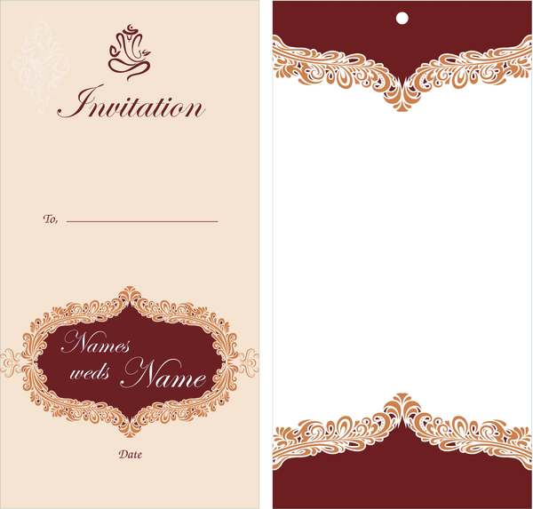Wedding Card Design Free Vector In Encapsulated Postscript Eps