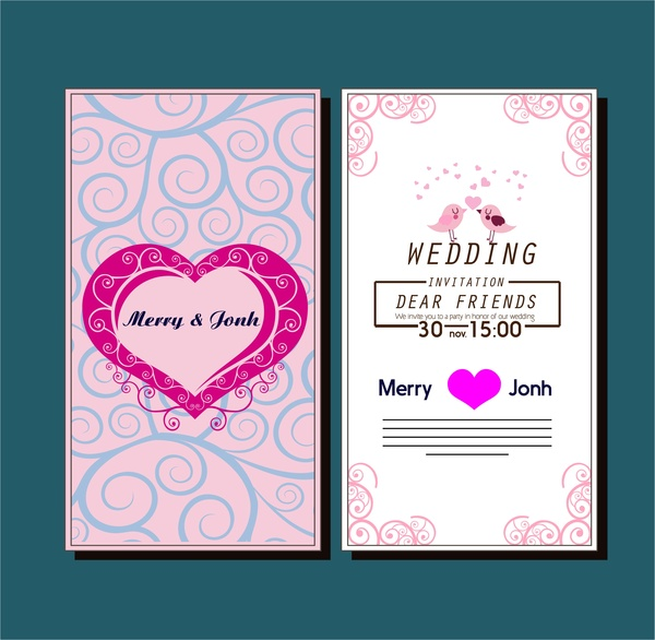 Wedding Card Design Template Free Vector Download (26,370