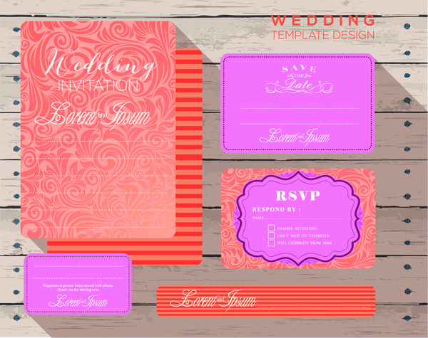 wedding design invitation card templates