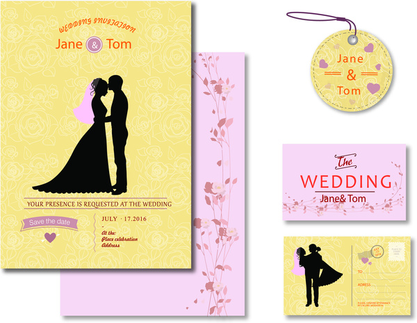 wedding design templates free vector in adobe illustrator ai ai