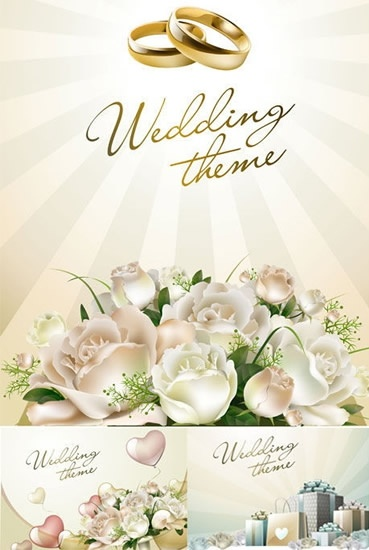 Wedding Background Templates Floral Rings Decor Modern Design Free Vector In Adobe Illustrator Ai Ai Vector Illustration Graphic Art Design Format Encapsulated Postscript Eps Eps Vector Illustration Graphic