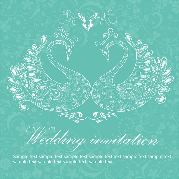 wedding invitation background peacocks free vector in adobe