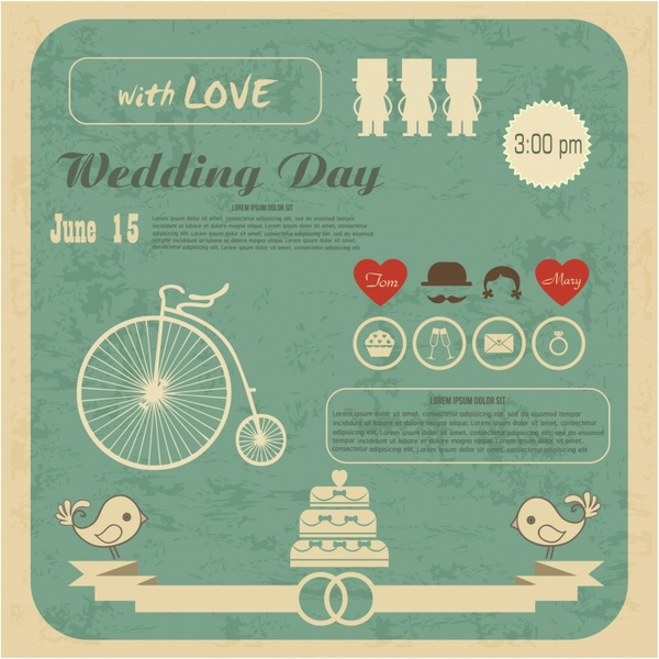 Wedding Invitation Card Free Vector In Adobe Illustrator Ai