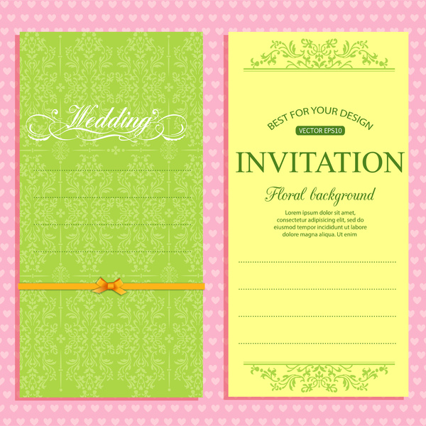 Invitation Wedding Card: Editable Wedding Invitations Free Vector Download (3,979