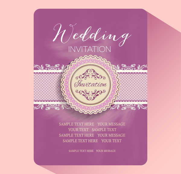 Editable Wedding Invitations Free Vector Download (3,834