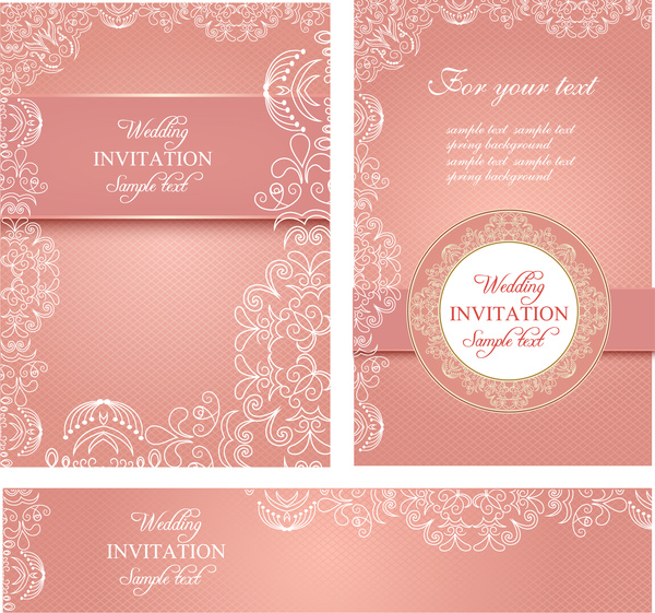 Wedding invitation card templates Free vector in Adobe Illustrator ...