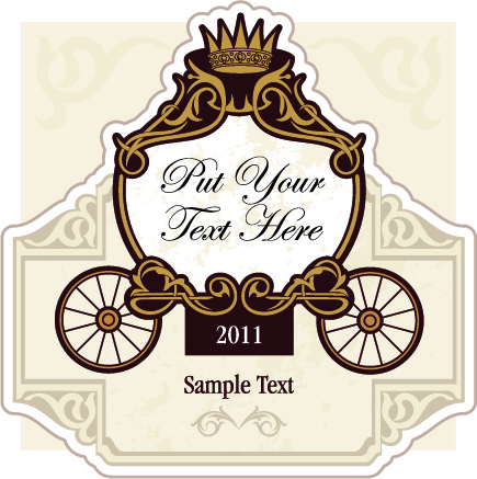 Wedding Invitation With Carriage Design Vector Free 81377KB