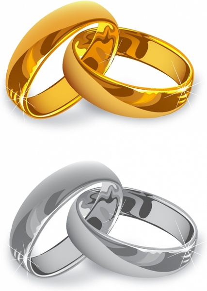 Wedding Rings Free Vector In Adobe Illustrator Ai Ai