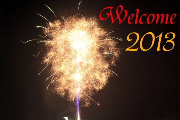 welcome 2013 fireworks