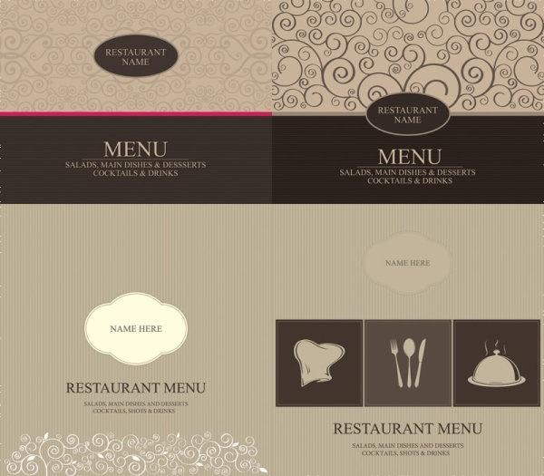 western menu cover vector