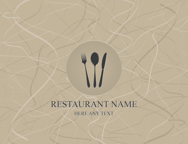 menu cover template grey dynamic messy lines decor