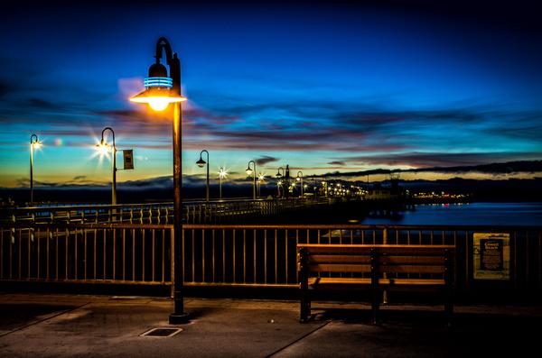 wharf on a sunset santa cruz