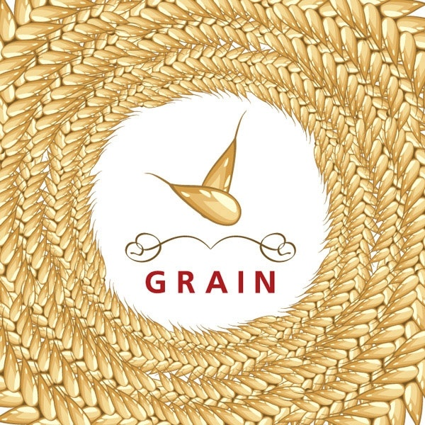 wheat and labels 05 vector
