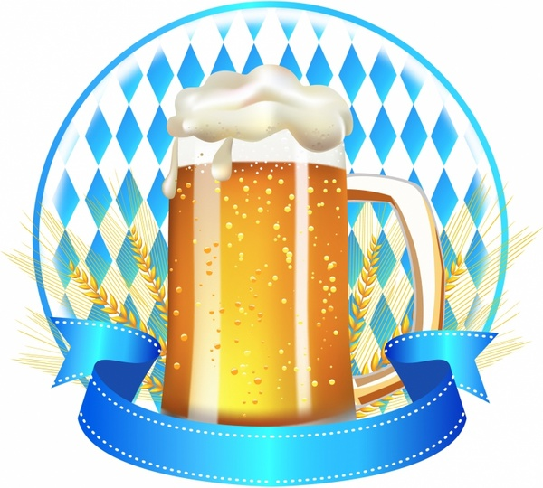 wheat beer banner free vector in adobe illustrator ai ai