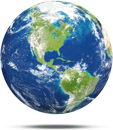 white background earth picture