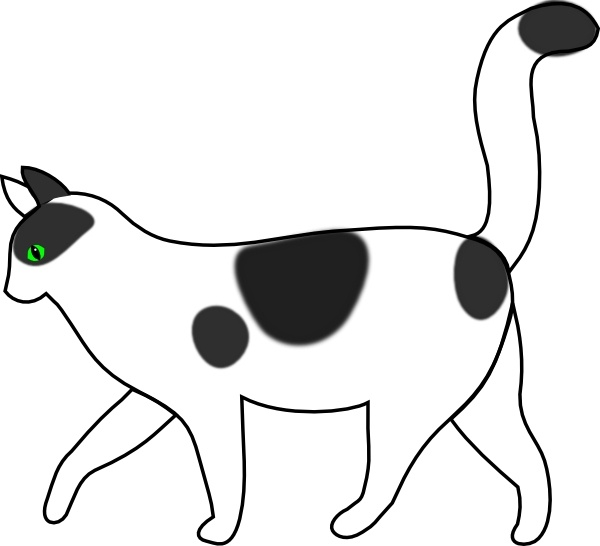 white cat walking clip art free vector in open office drawing svg rh all free download com black and white cat and dog clipart cat images black and white clipart
