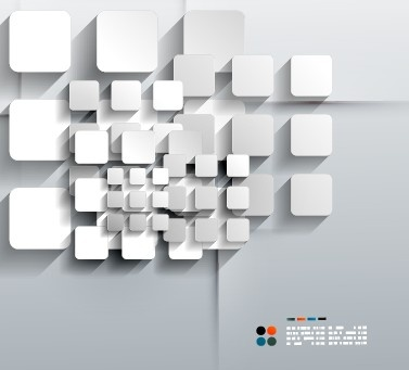 white geometric shapes vector background