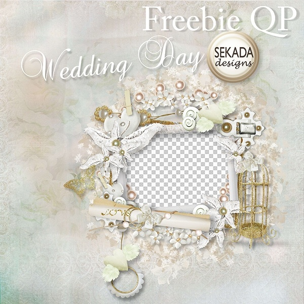white gold birdcage wedding photo frame png