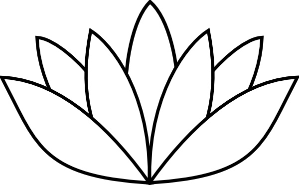 White Lotus Flower Clip Art Free Vector In Open Office Drawing Svg