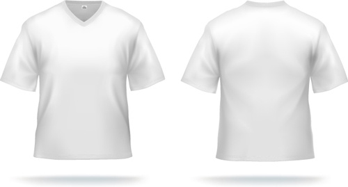 White t shirts template vector set Free vector in Encapsulated ...