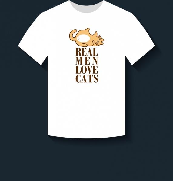 ced02a918ba White tshirt design cute cat slogan decoration Free vector in Adobe ...