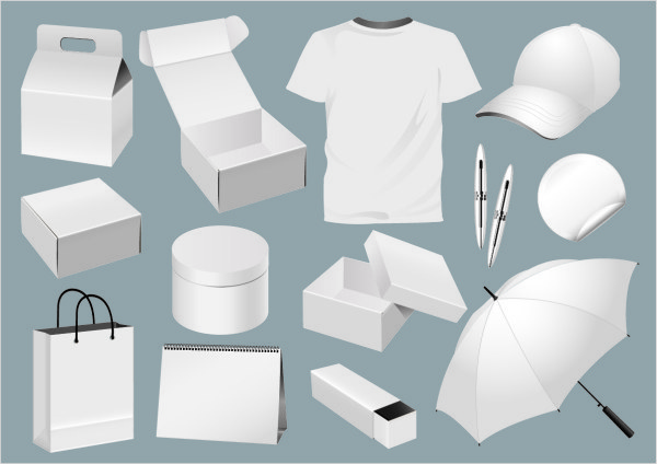 white tshirt with cap and box vector