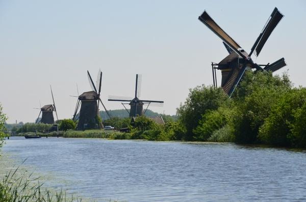 windmills holland canals