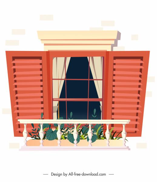 window balcony template elegant classical decor