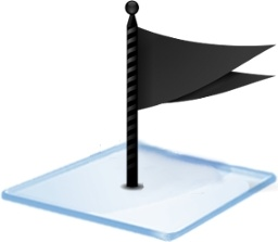 Windows 7 flag black