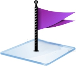 Windows 7 flag purple