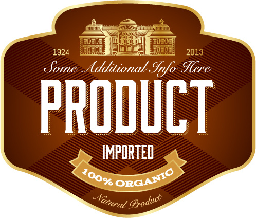 wine label vintage design vector set