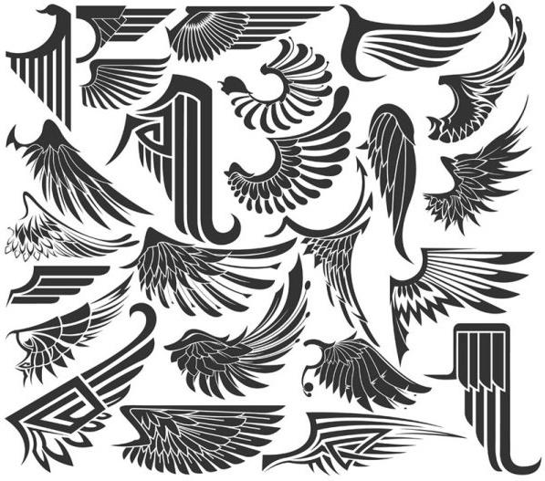 wings sinks 01 vector