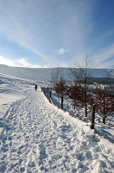 winter magic near dovestones reservoir united kingdom