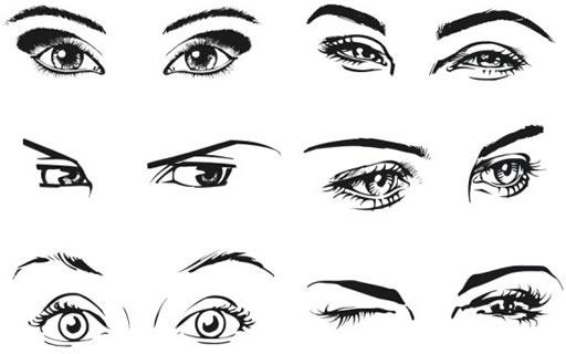 woman39s eyes vector free vector in coreldraw cdr cdr vector rh all free download com eye vector icon eye vector image