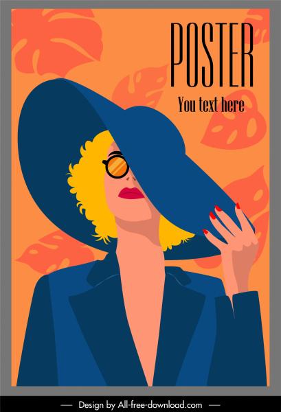 woman fashion poster glamour lady sketch cartoon design