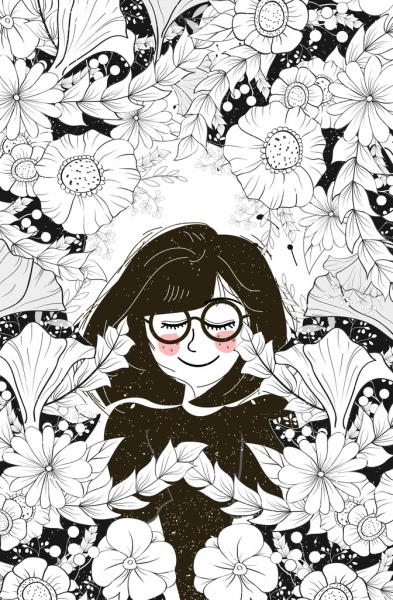 Flowers drawing black and white flowers healthy woman flowers drawing black white sketch mightylinksfo