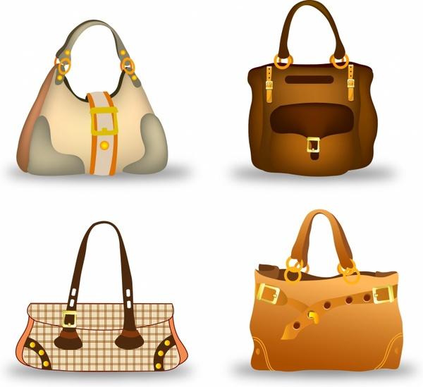 Woman Handbag Collection Set Free vector in Adobe Illustrator ai ... bc5ebf0b9a
