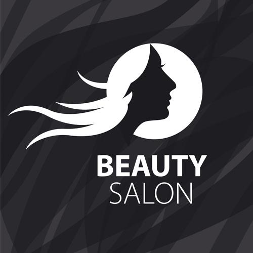 Woman head with beauty salon logos vector free vector in woman head with beauty salon logos vector altavistaventures Images