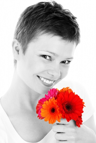 woman portrait with flowers
