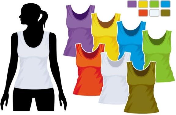 women39s vest template 01 vector free vector in encapsulated