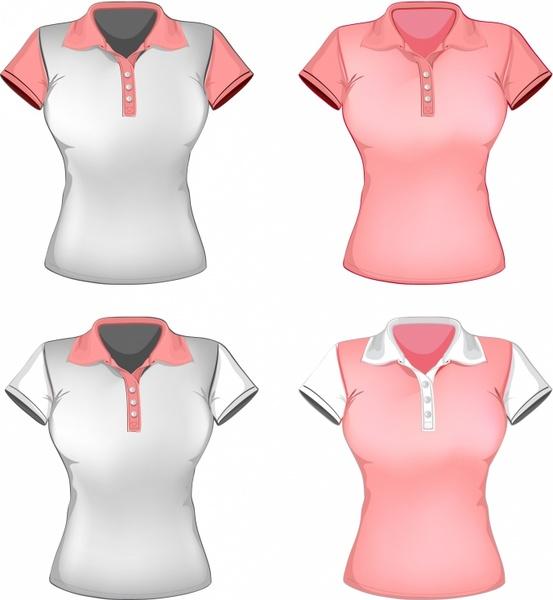 women polo shirt template
