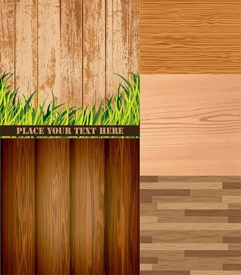 Wood grain background vector material