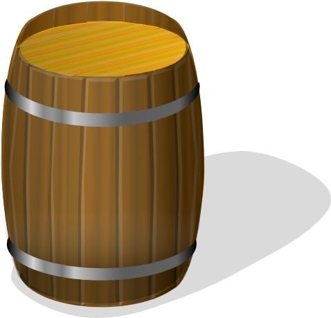 Wooden Barrel Clip Art Free Vector In Open Office Drawing