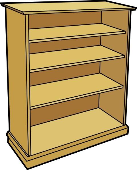 Books On Shelf Drawing Free Clip Art