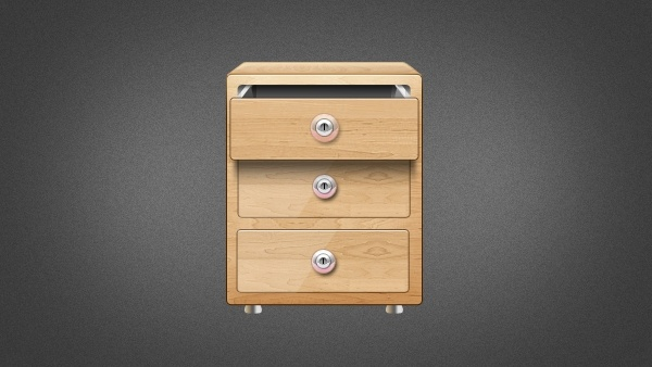 Wooden Drawer Icon