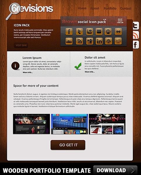 Wooden Portfolio Free PSD template
